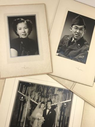 [Group of Five Photographic Portraits of Asian Americans from the Studios of Toyo Miyatake]