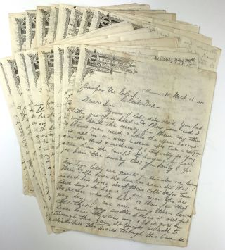 Archive of Letters from Farmer George Brown to His Managing Agent, Jasper Clark, in North...