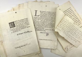 Collection of 18th-Century Printed Letters and Directives from the Viceroy of New Spain to the...