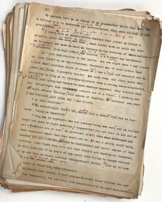 Typescript, with Manuscript Corrections, of a Novella Describing Ranch Life in Early-20th Century...