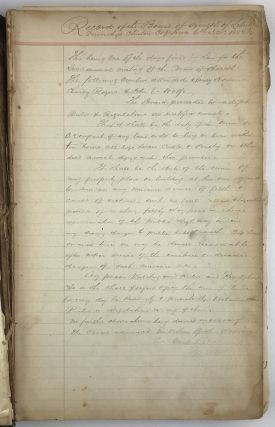 Record of the Board of Health of Liberty Township, Clinton Coy. Iowa [manuscript caption title]....