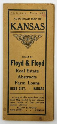 Auto Road Map of Kansas Issued by Floyd & Floyd Real Estate, Abstracts, Farm Loans Ness City,...