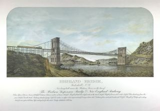 Highland Bridge, Peekskill, N.Y. Now Being Built Across the Hudson River on the Line of the...