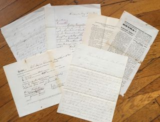 Small Archive of Six Documents Relating to the 1869 Election in Falls County, Texas]. Texas,...