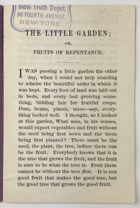 The Little Garden; or, Fruits of Repentance. By C.S. [cover title]