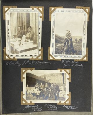 Civilian Conservation Corps Photo Album of Joseph Grosjean, Stationed at Hemet and Coeur...