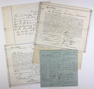 Three Documents Relating to the Organization of Miners' Unions in Virginia City, Nevada]. Nevada,...