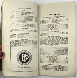 The Cook's Book. Published by the Third Division of the Ladies' Aid Society of the M.E. Church