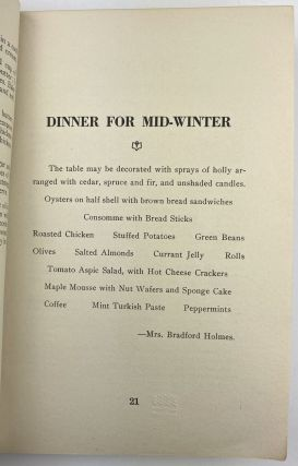 A Cook Book Compiled by the Publicity Committee of the Y.W.C.A.