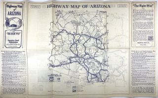 Highway Map of New Mexico / Highway Map of Arizona