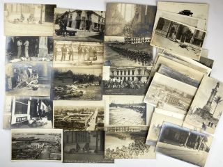 Collection of Thirty Real Photo Postcards Documenting the Invasion of Veracruz]. Mexican Revolution