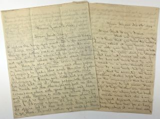 """[Group of Six Letters Written to """"Aunt May"""" and Her Daughter Franc by Her Niece, Margarette, Describing Life in Arizona and Other Family Matters]"""