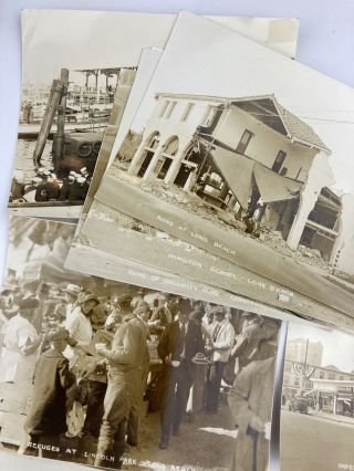 Small Collection of Photographs of the Long Beach Earthquake of 1933]. California, Western...