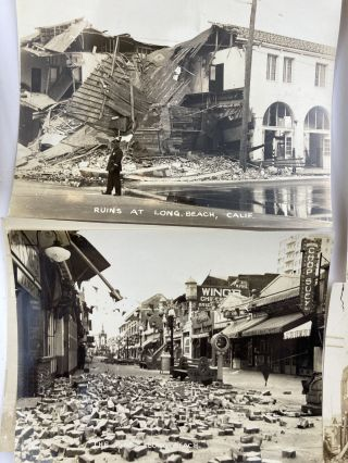 [Small Collection of Photographs of the Long Beach Earthquake of 1933]