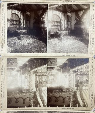 [Group of Twenty Stereoviews of the Sioux City Corn Palace of 1888]
