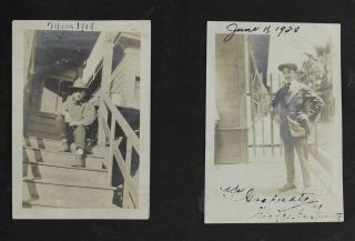 [Photo Album of a Young Japanese-American Man in the Bay Area, with Several Images of Japanese Baseball Players]