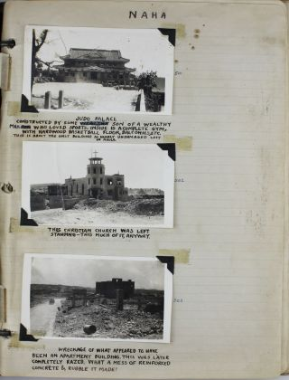 [Two Vernacular Photo Albums of Saipan and Okinawa Documenting the Efforts of the 806th Aviation Engineer Battalion Constructing Airfields for B-29s to Launch Bombing Raids on Japan in the Last Year and a Half of World War II]