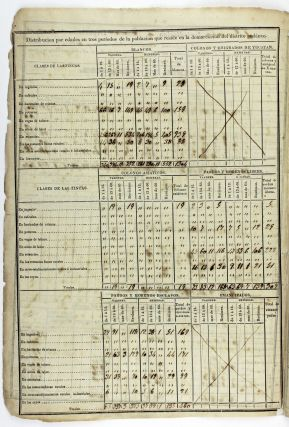 [Printed Form, Completed in Manuscript, Recording the Census Data for the Municipality of Remedios, Cuba]