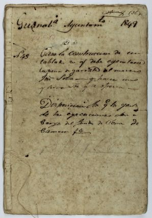 Manuscript Records of Preparations for the Execution of a Freed Cuban Slave, Condemned for...