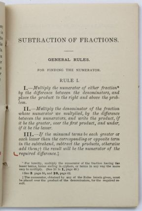 Leonard's New and Time-Saving Method for Subtractions of Fractions, with Many Corollaries on Simple Numbers Deduced from the Fractional Treatise