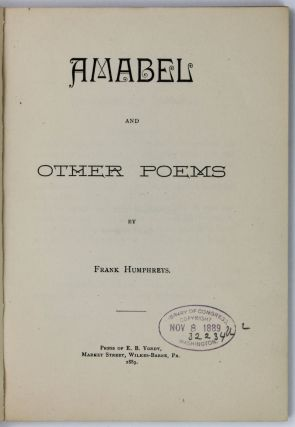 Amabel and Other Poems