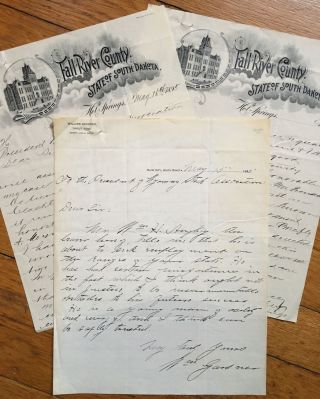 Two Manuscript Letters by and on Behalf of Cowboy William Aughey, Seeking a Return to Employment...