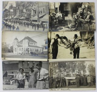 [Group of Twenty-Eight Real Photo Postcards of Horton, Kansas, and Surrounds, Taken by a Revival Organizer During the 1910s]