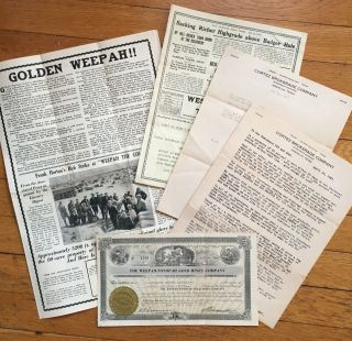 Group of Typed Letters and Promotional Material for the Weepah-Tonopah Gold Mines Company]....