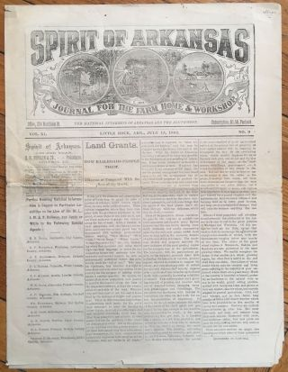 Spirit of Arkansas. A Journal for the Farm Home & Workshop. Vol. XI No. 9. Little Rock, Ark.,...