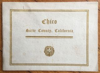Chico. Butte County, California. California, Promotional Literature