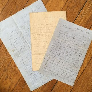 Three Letters Written Between Two Friends from Aroostook, Maine, Seeking Their Fortunes in Lumber...