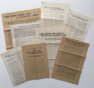Archive of Ephemera from Judson Harmon's 1912 Presidential Campaign]. Judson Harmon, Election of...
