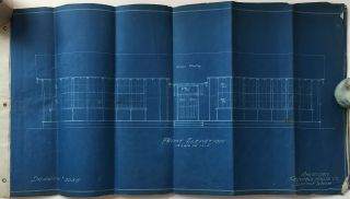 Blueprints for an Early Portable School House, Designed by a Washington Company]. American...