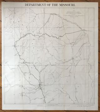 Department of the Missouri. Sketch Showing Military Roads Leading to Fort Lewis, Pagosa Springs...