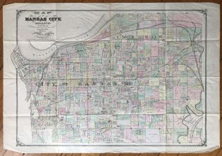 Map of Kansas City, Missouri and Vicinity. Missouri
