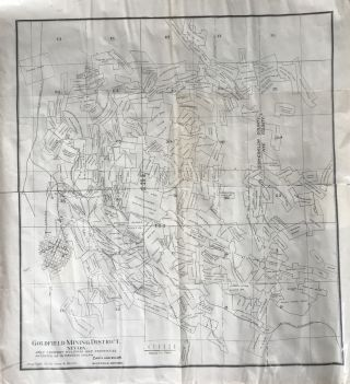 Goldfield Mining District, Nevada. Only Company Properties Patented or in Process Shown [caption...