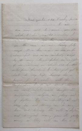 Autograph Letter, Signed, by First Louisiana Union Cavalry Private William Ellsworth, Announcing...