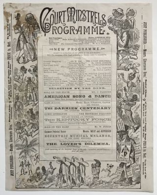 Court Minstrels Programme [Broadside Program Advertising the Performance of Messrs. Livermore...