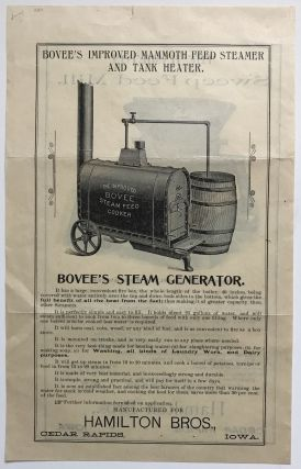 Bovee's Improved Mammoth Feed Steamer and Tank Heater / The Hamilton Sweep Feed Mills [caption...