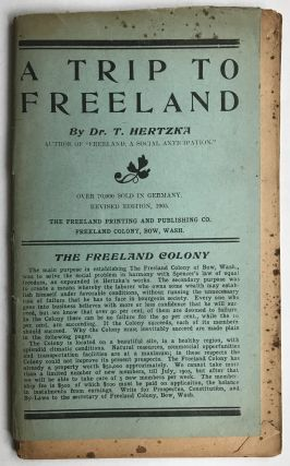 A Trip to Freeland [cover title]. Utopias, Theodore Hertzka