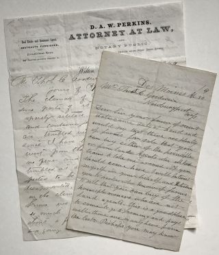 Two Letters to Thomas Goodwin with Advice on Settling in Iowa]. Iowa