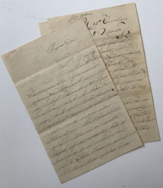 Detailed Autograph Letter by a Cavalry Trooper, Describing Life in the Black Hills Ten Years...