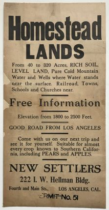 Homestead Lands from 40 to 320 Acres, Rich Soil, Level Land, Pure Cold Mountain Water and Wells...