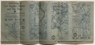 Goodrich Road Map of Southern California [caption title].