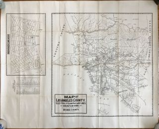 Map of Los Angeles County, Electric, Steam Railway Lines, and Mountain Guide. And Also Portion of...