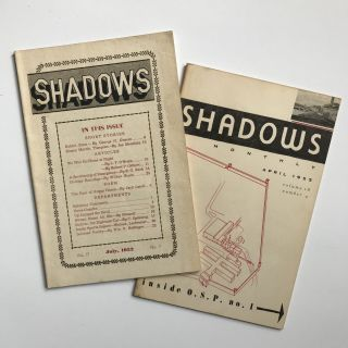 Shadows [cover title]. Prison Magazines, Oregon