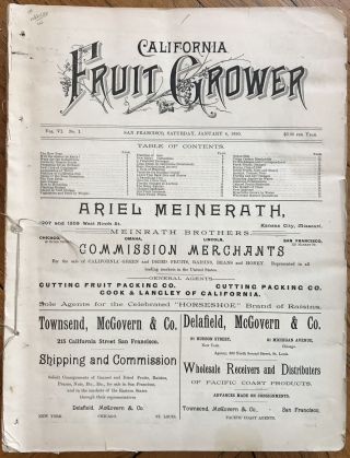 California Fruit Grower. California, Agriculture