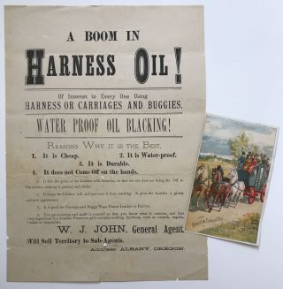 A Boom in Harness Oil! Of Interest to Every One Using Harness or Carriages and Buggies [caption...