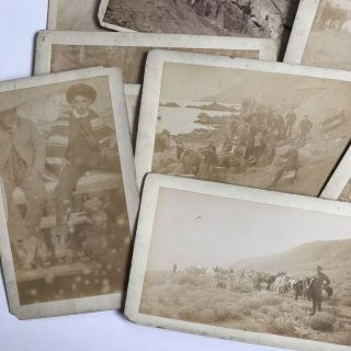 Fourteen Cabinet Cards Depicting a Mexican Mining Expedition]. Mexico, Mining