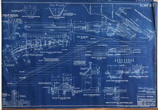 [Five Large Blueprints of Early Depression-Era Weber Dam Modifications]